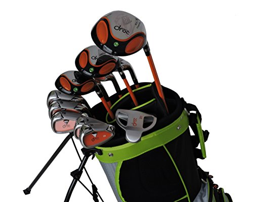 DROC - Dimond Series Right Hand 13 Pcs Golf Clubs Set Age 9-12 and 11-14 (Age 9-12)
