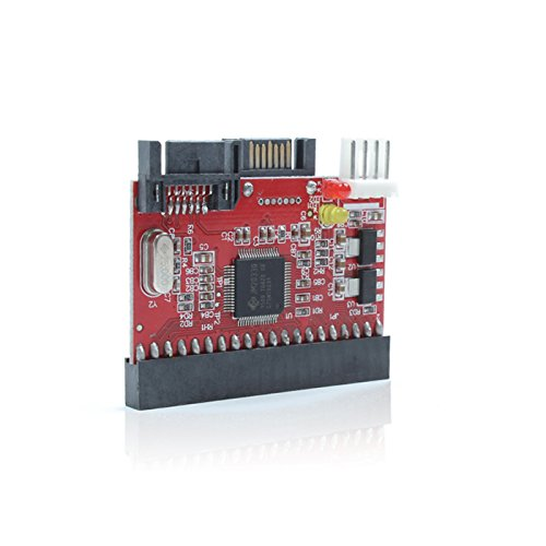G02 2in1 Wandler IDE auf SATA or SATA auf IDE Festplatte DVD Laufwerk, Unterstützt ATA 100/133, Serial-ATA (SATA)-Spezifikation, Daten-Übertragungsrate bis zu 1,5G pro Sekunde