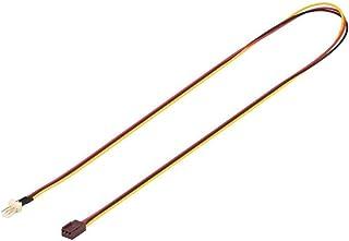 Goobay 93876 Internes Stromkabel / Stromadapter für PC Lüfter mit Lüfter Stecker (3 Pin) auf Lüfter Buchse (3 Pin), 0,6m