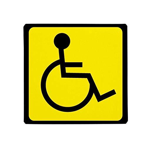 DIYthinker Warnung Symbol gelb schwarz Behinderten quadratisch Anti-Rutsch Boden Pet Matte quadratisch Home Kitchen Tür 80cm Geschenk