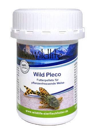 Wildlife Wild Pleco Natürliche Futterpellets für Pflanzenfressende Welse, 45 g