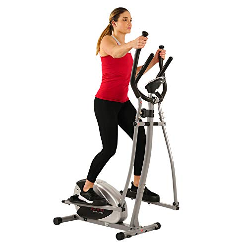 Sunny Health & Fitness SF-E905 Elliptical Machine Cross Trainer with 8 Level Resistance and Digital Monitor by Sunny Distributor Inc.