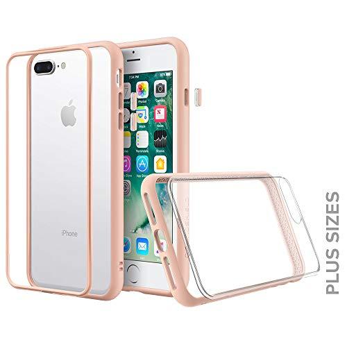 RhinoShield Coque Compatible avec [iPhone 7 Plus / 8 Plus] | Mod NX - Protection Fine Personnalisable avec Technologie Absorption des Chocs [sans BPA] + [Programme de Remplacement] - Rose