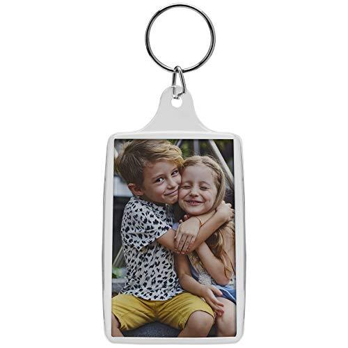 1.75' x 2.75' Acrylic Photo Keychains - 25 Pack