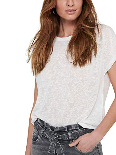 Only ONLLULA S/S Mix Top JRS Camiseta, Cloud Dancer, L para Mujer