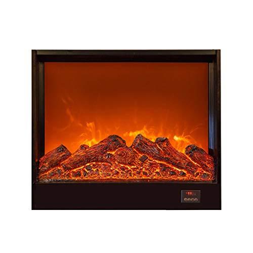 XIANWEI Elektro-Kamin Kit Realistische 3D Dynamische Flammeneffekt Fernbedienung Einstellungen Einbau-Kamineinsatz Panorama Design-70X18X60CM