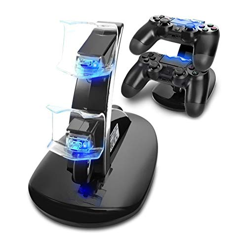 Cargador Mando PS4, Tihokile Dual USB Cargador para Playstation 4 PS4