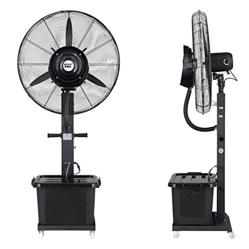 Jyfsa Ventilador móvil de fábrica con Tanque de Agua, Ventilador Industrial Ventilador Fresco Ventilador eléctrico Ventilador de nebulización Ventilador de Suelo Vibrante Humidificador, 260 W (65 cm)
