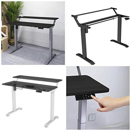 TESSA-MAX motorisierter zweilagiger höhenverstellbarer Schreibtisch 800kg maximale Belastbarkeit Komfort Büro Studio Tisch Top Einfache Tastensteuerung Ergonomisches Design