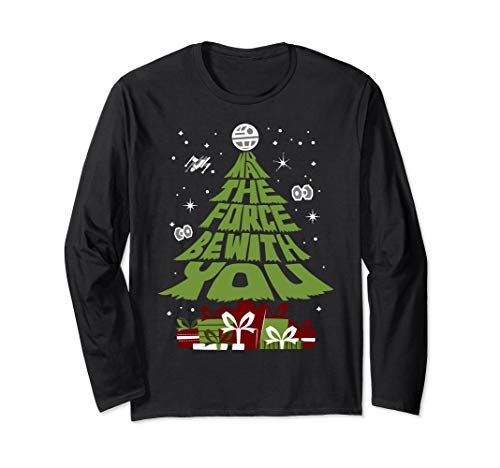 Star Wars Force Be With You Christmas Tree Long Sleeve Tee