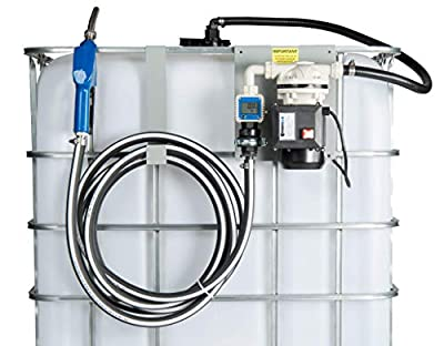 ArmorBlue TD1 Pump Kit 115v for Diesel Exhaust Fluid (DEF) | 6+ Gallons per Minute | Tote and Drum Compatible | Includes Coupler, Check Valve, Flow Meter and Stainless Steel Auto Nozzle from ArmorBlue