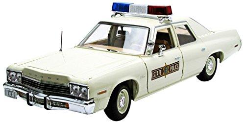 Auto World - Amm1019 - Véhicule Miniature - Modèle À L'échelle - Dodge Monaco - Police Illinois - 1975 - Echelle 1/18