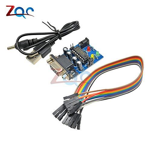 RS232 zu TTL Konverter Modul COM DB9 Serielle Karte MAX232 MAX232CPE Transferchip ATMEGA16 LED Lichtleistung RXD TXD für Arduino