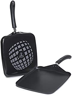 "IMUSA USA IMU-30011TGT 11"" Nonstick Gourmet Square Griddle, Black"