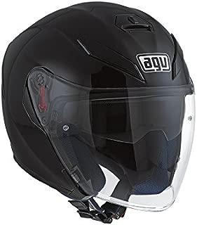 AGV K5 Jet Solid/Plain Matt Black Open Face Motorcycle Helmet Size S 55-56CM
