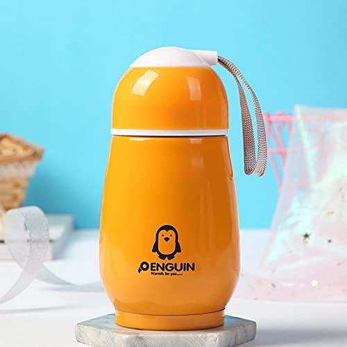 Taza de acero inoxidable de doble capa de 300 ml con aislamiento de pingüino taza de café creativa mini vientre, taza al aire libre para niños estudiantes