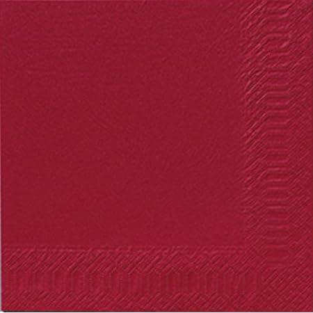 Duni Servietten 3lagig Tissue Uni Bordeaux 33 X 33 Cm 250 Stück Küche Haushalt