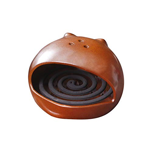 isilky Cat Mosquito Coil Holder, Innovative Japanese Large Incense Burner, Home Mosquito Repellent Aromatherapy Stove Incense Burner
