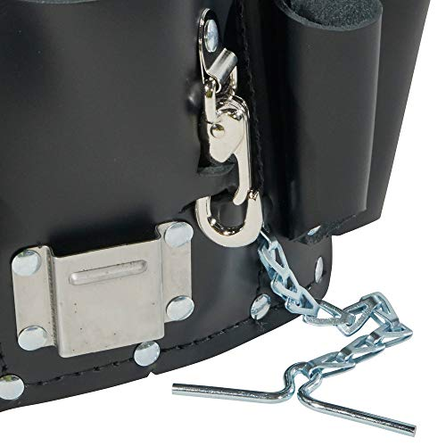 Klein Tools 5178 Pocket Tool Pouch, Leather, Tunnel Loop Belt Connection, Black