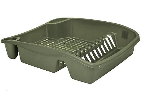 Whitefurze Égouttoir à Vaisselle, en Plastique, Argent, Taille L