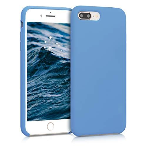 kwmobile Hülle kompatibel mit Apple iPhone 7 Plus / 8 Plus - Handyhülle gummiert - Handy Hülle in Azurblau