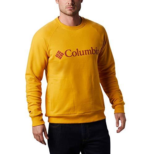 Columbia Lodge Sudadera sin Capucha, Hombre, Amarillo/Rojo (Bright Gold, Carnelian Red), M