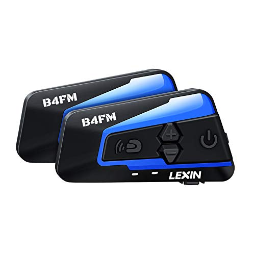 LEXIN 2pcs LX-B4FM Intercom Moto Bluetooth avec FM Radio,1-4...