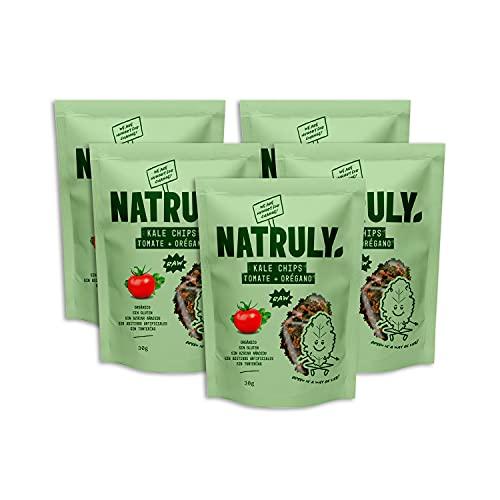 Natruly Kale Chips Sabor Italiano - Snack Saludable Orgánico Cruijiente