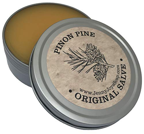 Pinon Pine Salve 4 oz Naturally Soothing Balm of Southwest. Uses: Dry Skin Irritations, Lip Balm, Cracked Hands and Feet by Jenny Joy's Soap