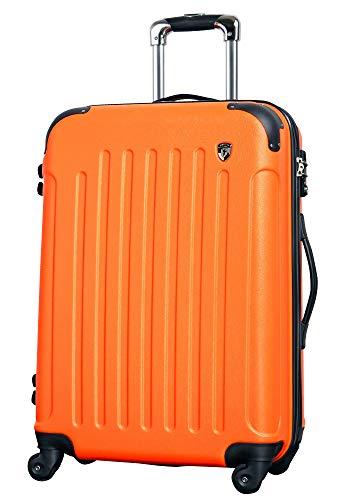 MS 【マットB】 オレンジ / newFK10371 スーツケース キャリーバッグ 軽量 TSAロック (3〜5日用) マット加工 ファスナー開閉タイプ