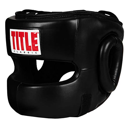 Title Classic Face Protector Headgear, Black, Youth