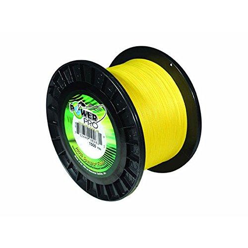 POWER PRO Spectra Fiber Braided Fishing Line, Hi-Vis Yellow, 150YD/15LB