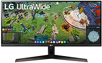 LG 29WP60G-B 29 Inch 21:9 UltraWide Full HD (2560 x 1080) IPS Monitor with sRGB 99% Color Gamut and HDR 10, USB Type-C Connectivity and 3-Side Virtually Borderless Display, Black