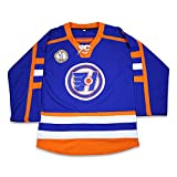 boriz Marco Belchior Halifax Hockey Jersey Includes EMHL and A Patches Stitch Blue (66)