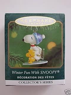 Hallmark Keepsake Ornament - WINTER FUN WITH SNOOPY (4th In Series) Miniature Ornament (Dated 2001) QXM5262