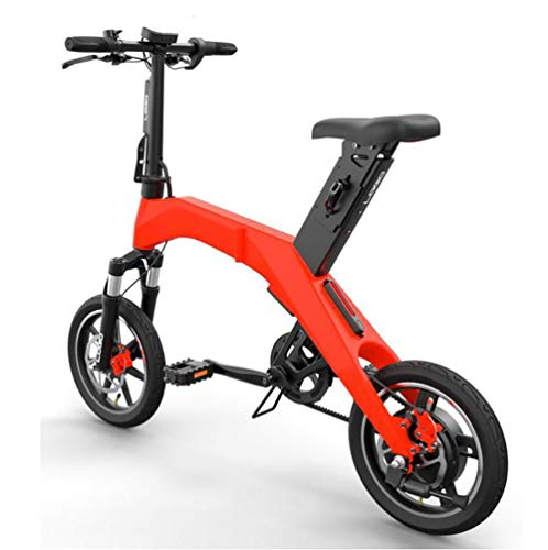 TX Bicicleta eléctrica Plegable Ciudad Urbana de Viaje de Aviones Grado Aluminio aleación 30 km 22kg,Red