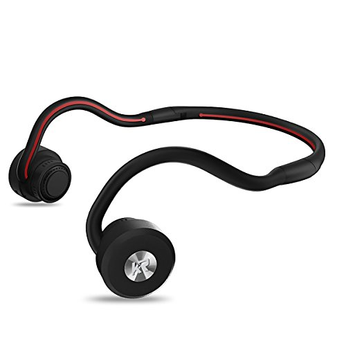 Bone Conduction Headphones, Newest Open Ear Foldable Bluetooth Headset - Black
