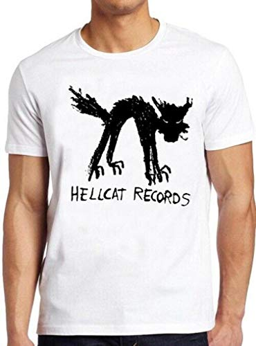 Vinyl Records T Shirt Seattle Record Store Music Cat Hellcat Cool Tee 38,Men (Unisex),M