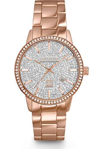 JETTE Time Damen-Uhren Analog Quarz One Size Rosé Edelstahl 32001876