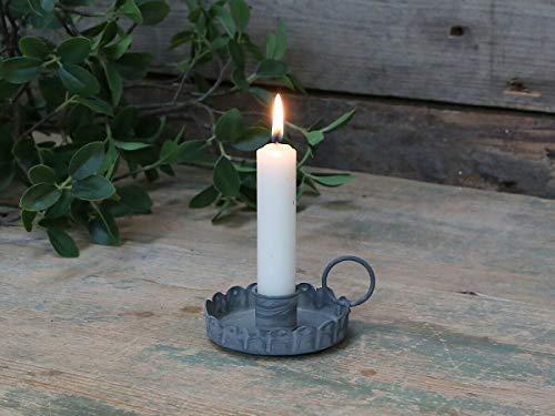 Homes on Trend Kerzenhalter, dekorativ, klein, antikes Finish Antiker Zink-Kerzenständer mit Griff.