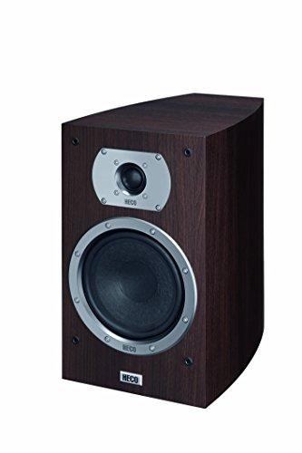 Heco Victa Prime 302 | 2 Wege Heimkino- und Stereo-Regallautsprecher | 1 Paar, Farbe:Espresso