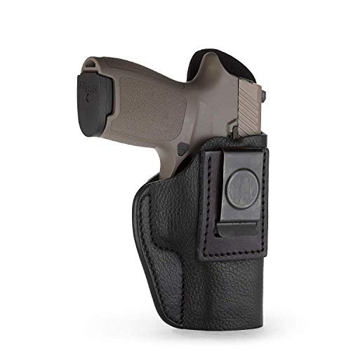 1791 GUNLEATHER P320c Premium Leather Holster - Soft & Comfortable IWB CCW Holster for H&K VP9sk - Right Handed Leather Gun Holster also fits HK P2000, HK 45c, SIG P229c and most compacts w. rail