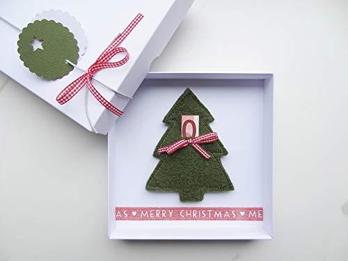 Weihnachtsgeschenk Geldgeschenk Weihnachten Tannenbaum für Sie Ihn, Weihnachtsbaum Winter Geld schenken verschenken Männer Frauen Weihnachtskarte