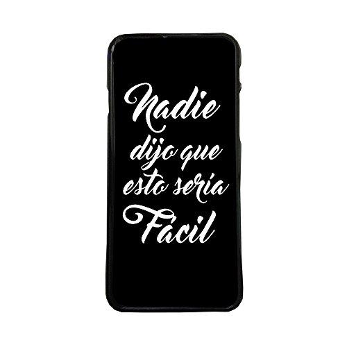 ELHURON Carcasas De Moviles Fundas De TPU Compatible con El Modelo de Movil Samsung Galaxy S6 Edge Plus TPU Frases facil