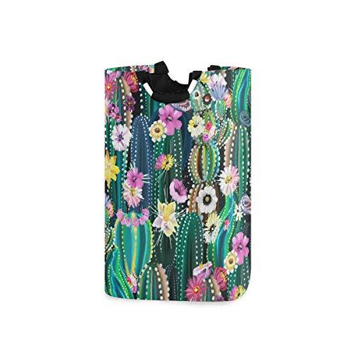 N\A Cesto de la Ropa, Flor Colorida del Cactus Cestas del almacenaje de la Ropa Ropa Plegable Organizador del Juguete Bolsa para dormitorios Cuarto de Lavado Cuarto de baño