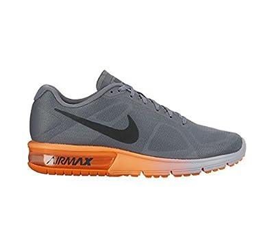 Nike Men's Air Max Sequent Running Shoe Cool Grey/Hematite/Total Orange Size 7.5 M US