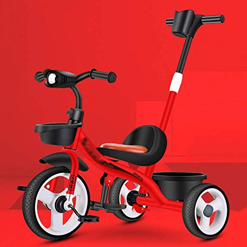 Affordable 3-in-1 Push Along Trike with Parent Handle and Kids Tricycle - Bright and Colourful Desig...