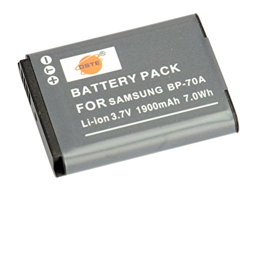 DSTE Replacement for BP-70A Li-ion Battery Compatible Samsung ST95 ST100 ST6500 SL50 SL600 TL205...