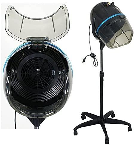 HomGarden Professional 1300W Adjustable Bonnet Hair Dryer Stand Up Hooded Floor Swivel Hair Bonnet Rolling Base w/Wheels Beauty Salon Equipment