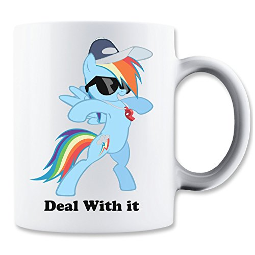 MaikesTic regenboog pony deal met het mok